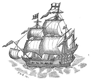 What happened on board the Red Dragon in 1607?