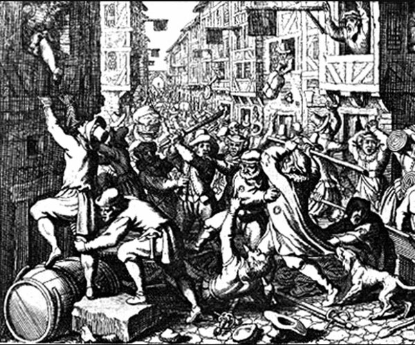 Did Shakespeare witness the riot of London apprentices in Southwark in 1592?